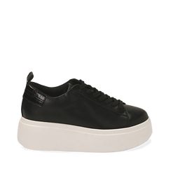 Sneakers noires, compensée 6,50 cm , Primadonna, 167505101EPNERO036, 001a