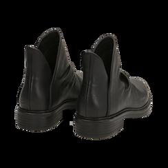Biker boots flat neri in eco-pelle, Stivaletti, 140701515EPNERO036, 004 preview