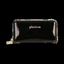 Portafogli nero in vernice, Borse, 155122519VENEROUNI, 001 preview
