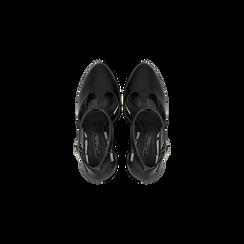 Décolleté Charleston nere, tacco 13,5 cm, Scarpe, 122103012EPNERO, 004 preview
