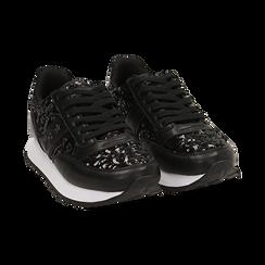 Zapatillas color negro con lentejuelas , Primadonna, 162619079PLNERO035, 002 preview