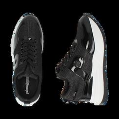 Sneakers nere glitter, suola 5,50 cm , Scarpe, 142898982GLNERO035, 003 preview