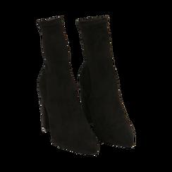 Ankle boots neri in microfibra, tacco 9,50 cm , Primadonna, 163026535MFNERO035, 002 preview