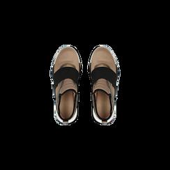 Sneakers rosa nude in lycra con fascia elastica, Scarpe, 121617843LYNUDE, 004 preview