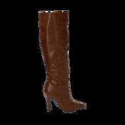 Stivali cuoio, tacco 10,50 cm , Primadonna, 162146862EPCUOI035, 001a