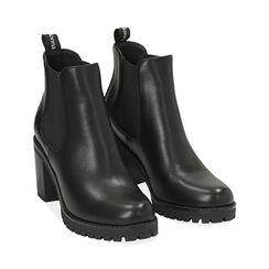Botines Chelsea negro, tacón 8 cm , PROMOCIONES, 160637851EPNERO040, 002 preview