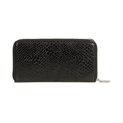 Portafogli nero stampa pitone, Borse, 155122519PTNEROUNI, 004 preview