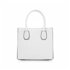 Borsa media bianca in eco-pelle con oblò multicolor, Borse, 131809208EPBIANUNI, 003 preview
