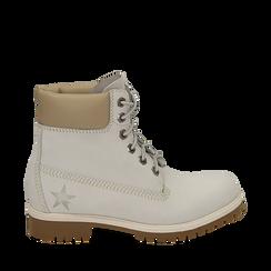 Botas en nabuk color blanco, Primadonna, 16H220021NBBIAN035, 001a