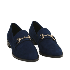 ZAPATOS MOCASIN MICROFIBRA BLUE, Chaussures, 164964141MFBLUE035, 002a