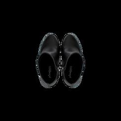 Tronchetti neri con plateau, tacco 13,5 cm, Scarpe, 122138410EPNERO, 004 preview