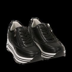 Sneakers platform nere, Scarpe, 152821311EPNERO035, 002a