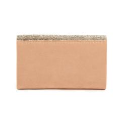 Pochette laminada con pedrería color nude, Bolsos, 155108562MFNUDEUNI, 003 preview