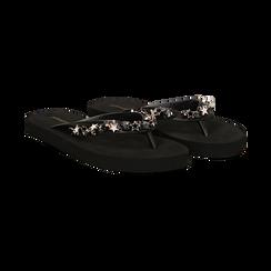Zeppe infradito nere in pvc, Scarpe, 13C119508PVNERO036, 002 preview