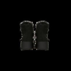 Scarponcini da neve neri con suola alta, Scarpe, 129306683MFNERO, 003 preview