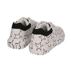 Sneakers bianche stampa stelle, Primadonna, 172621032EPBIAN035, 004 preview