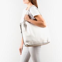 Shopper blanc en simili-cuir, Sacs, 155702557EPBIANUNI, 002 preview