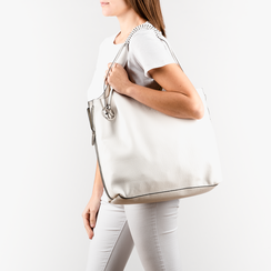 Shopper bianca, Borse, 155702557EPBIANUNI, 002 preview