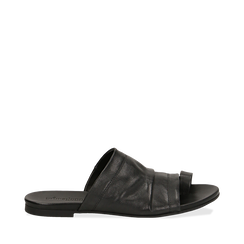 Sandali neri in vera pelle, Primadonna, 137713336PENERO035, 001a