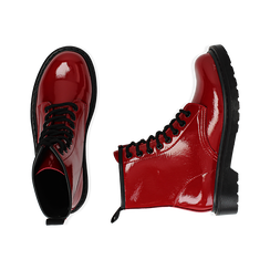 Anfibi rossi in vernice, Stivaletti, 142801501VEROSS035, 003 preview