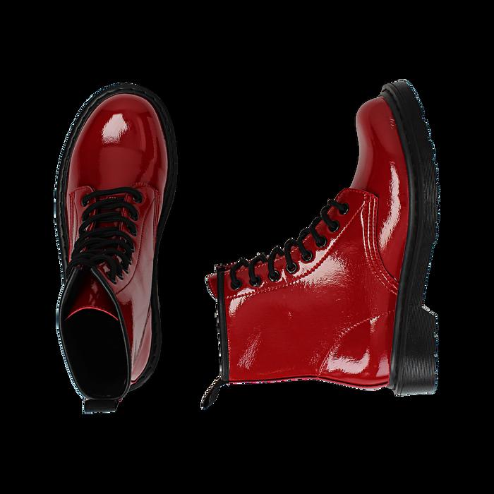 consegna veloce acquista online fornitore ufficiale Anfibi rossi in vernice | Primadonna Collection