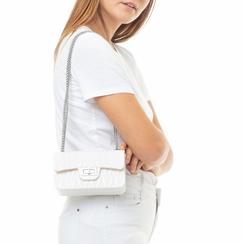 Mini-bag bianca in pvc,