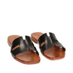 Sandales noir en cuir de vache, Primadonna, 177239345VANERO035, 002a