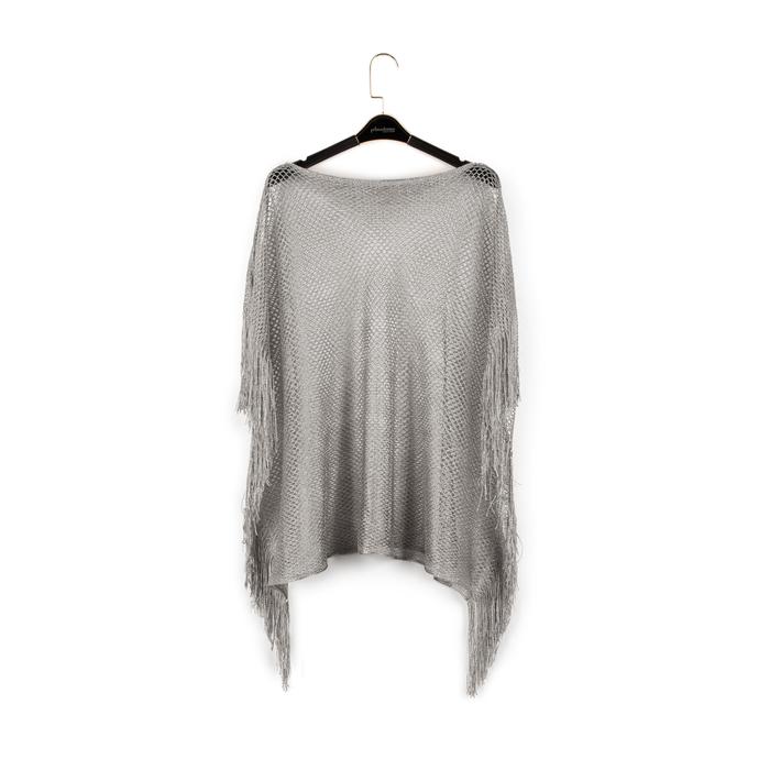Poncho argento retinato, Vêtements, 15B402918TSARGEUNI