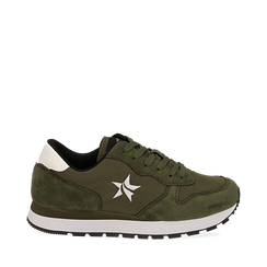 Sneakers verdi in microfibra, Scarpe, 140600201MFVERD035, 001a