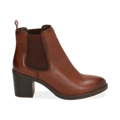 Ankle boots cuir, talon 4,50 cm, Primadonna, 169495750PECUOI035, 001 preview