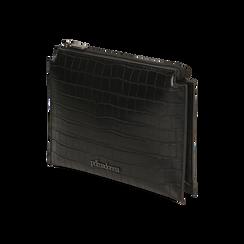 Bustina nera con stampa cocco, IDEE REGALO, 165122634CCNEROUNI, 002 preview
