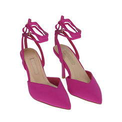 Slingback lace-up fucsia in lycra, tacco 9 cm , Primadonna, 172106281LYFUCS035, 002 preview