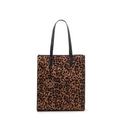 Maxi bag leopard in microfibra , Primadonna, 142900004MFLEOPUNI, 001a