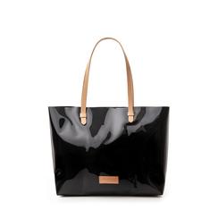 Maxi-bag nera in pvc, Primadonna, 133764210PVNEROUNI, 001a