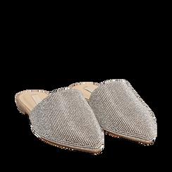 WOMEN SHOES SABOT MICROFIBER STONES ARGE, Zapatos, 154921861MPARGE036, 002a
