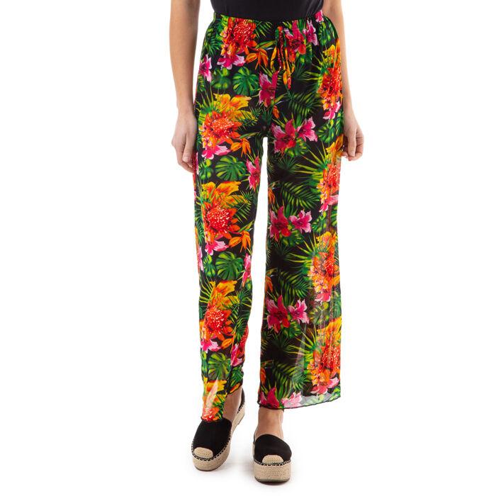 Pantalones estampados en flor, Primadonna, 17L571059TSFIORUNI