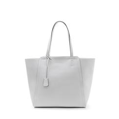Maxi-bag bianca in eco-pelle con design a trapezio, Borse, 133763772EPBIANUNI, 001a