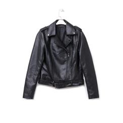 Biker jacket nera in eco-pelle, Abbigliamento, 146506331EPNERO, 003 preview