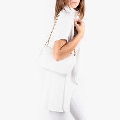 Petit sac porté épaule blanc en simili-cuir, Primadonna, 155127201EPBIANUNI, 002a