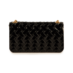Mini-bag matelassé nera in pvc, Borse, 15C809988PVNEROUNI, 003 preview