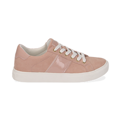 Sneakers nude in microfibra, Scarpe, 152619072MFNUDE035, 001 preview