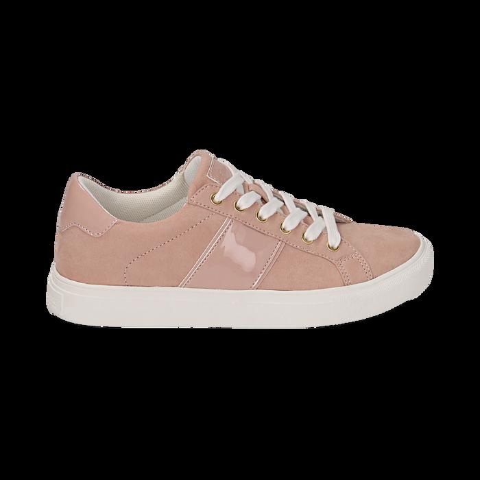 Sneakers de microfibra en color nude, Zapatos, 152619072MFNUDE035