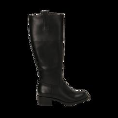 Stivali flat neri, tacco 4 cm , Primadonna, 160621686EPNERO035, 001 preview