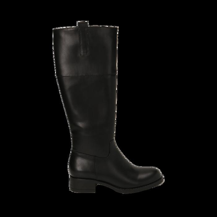 Stivali flat neri, tacco 4 cm , Primadonna, 160621686EPNERO035