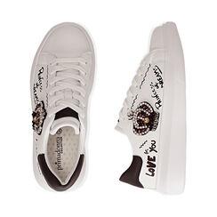 Sneakers nere con corona, Primadonna, 172621011EPBIAN035, 003 preview