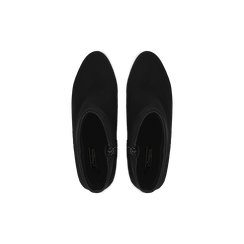 Tronchetti neri scamosciati, tacco medio 5 cm, Scarpe, 122762715MFNERO, 003 preview