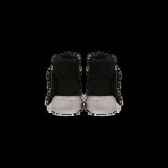 Sneakers nere con risvolto in eco-shearling, Scarpe, 124110063MFNERO, 003 preview