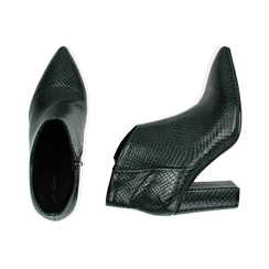 Ankle boots verdi stampa vipera, tacco 9 cm , Primadonna, 164916101EVVERD035, 003 preview
