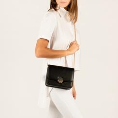 Petit sac noir en simili-cuir, IDEE REGALO, 155108225EPNEROUNI, 002 preview