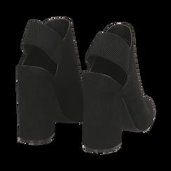 Mules nere in microfibra, tacco 11 cm , Scarpe, 142186941MFNERO036, 004 preview